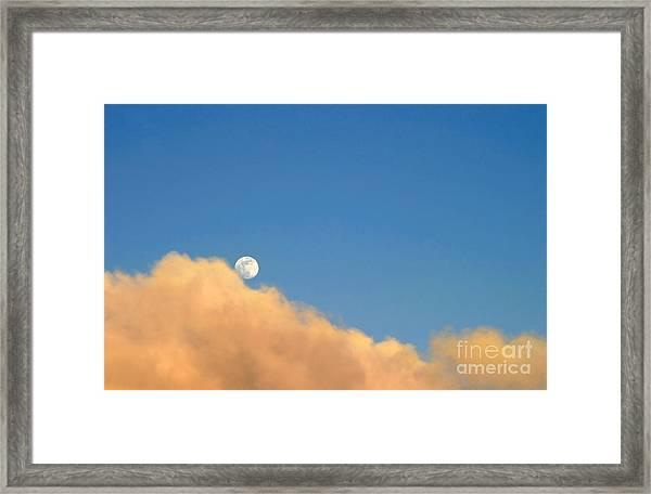 Moon At Sunset Framed Print
