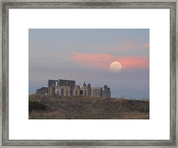 Moon Over Fort Laramie Framed Print