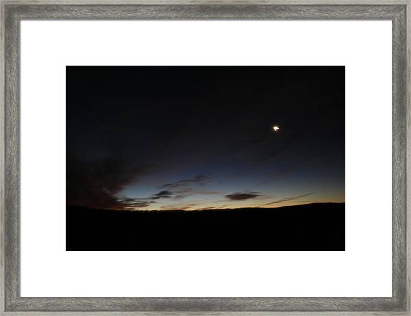 Moon Set Framed Print