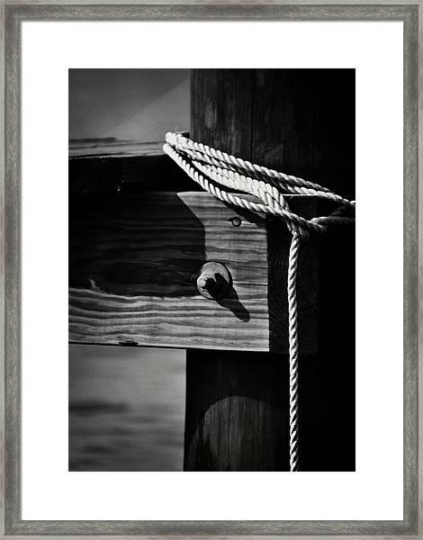Mooring Framed Print