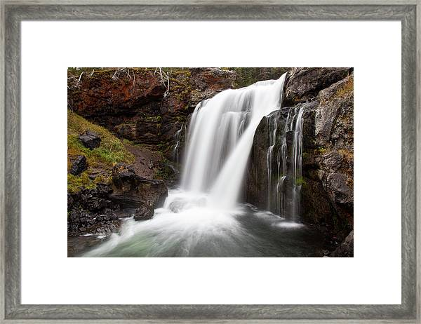 Moose Falls In Yellowstone National Park Framed Print