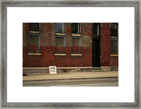 More Framed Print by Benjamin Clark