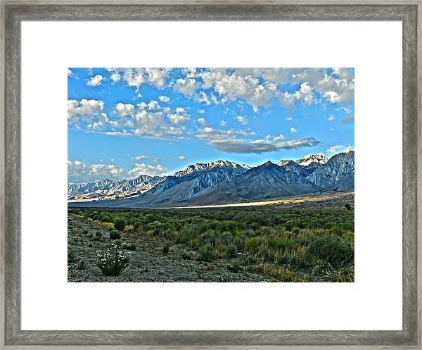 Morning In The Eastern Sierras Framed Print