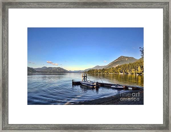 Mornings In British Columbia Framed Print