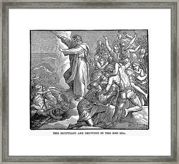Moses And The Red Sea Framed Print