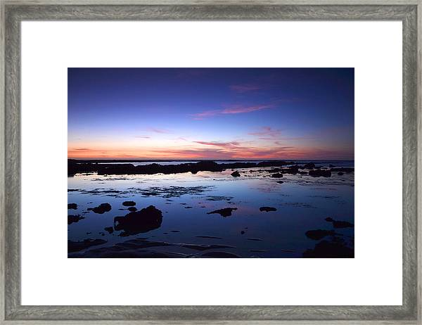 Moss Beach - Fitzgerald Reserve Reflection Framed Print