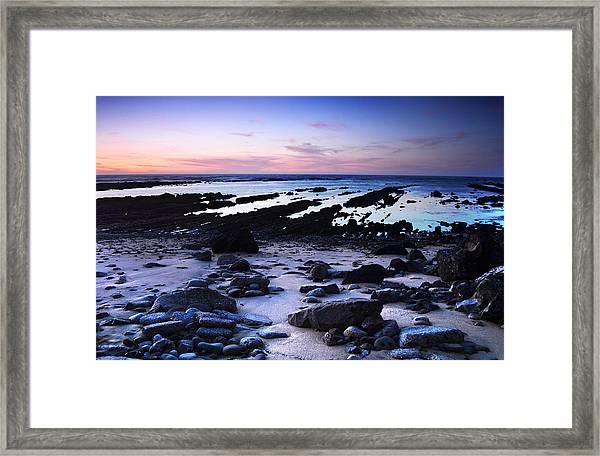 Moss Beach - Fitzgerald Reserve Shore Framed Print