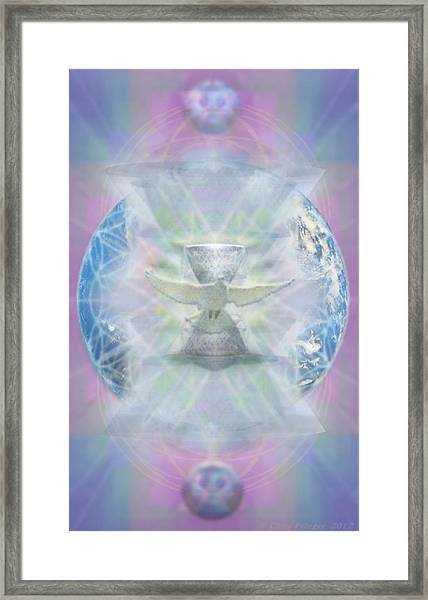 Mother Earth Dove And Chalice Framed Print by Christopher Pringer