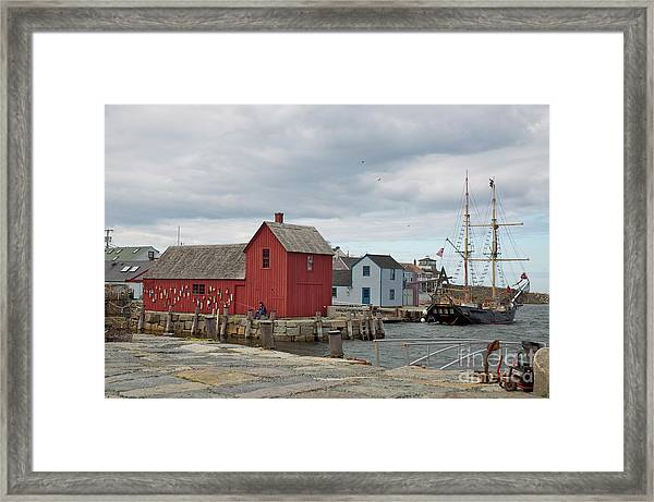 Motif No.1 With Fisherman Framed Print