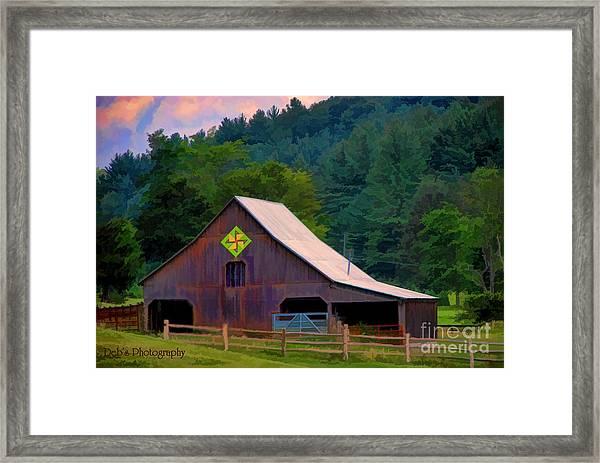 Mountain Barn by Debra Cutchins