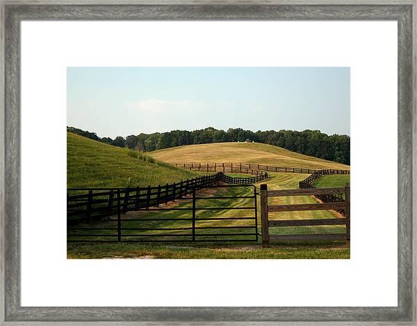 Mountain Farmland Framed Print