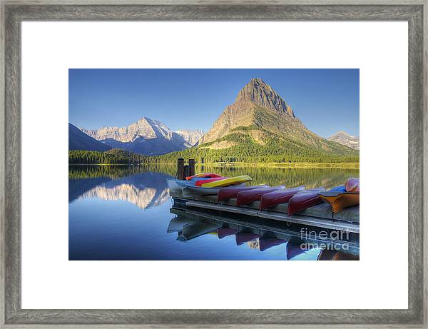 Mountain Recreation Framed Print