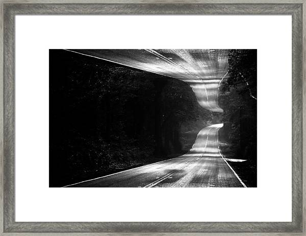 Mountain Road Dream Framed Print