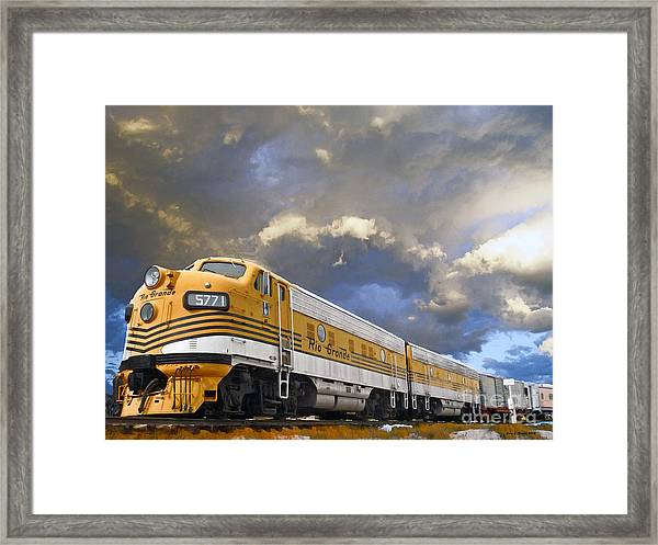 Mountain Train Framed Print