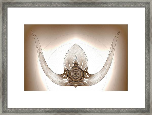 Framed Print featuring the digital art Mounted Bull Horns by Visual Artist Frank Bonilla