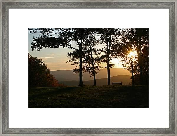 Mt Pisqah Sunset 2 Framed Print