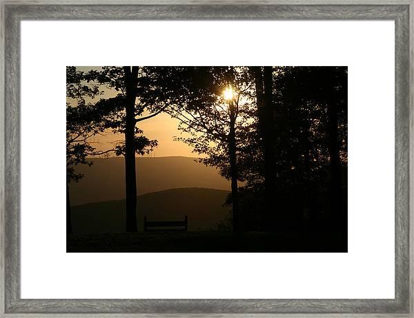 Mt Pisqah Sunset Framed Print