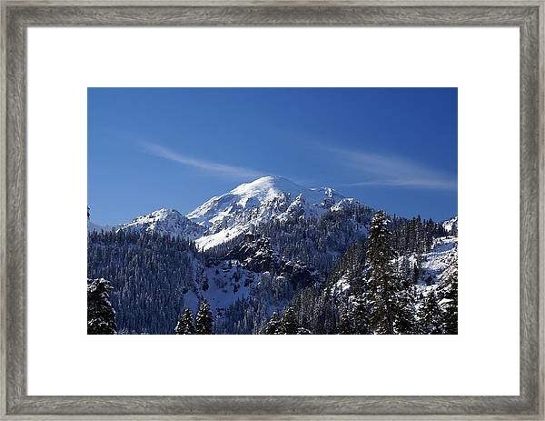 Mt. Rainier In Contrast Framed Print