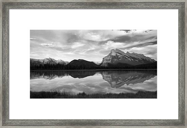 Mt. Rundel Reflection Black And White Framed Print by Andrew Serff