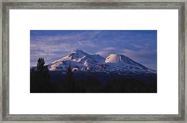 Mt Shasta Framed Print