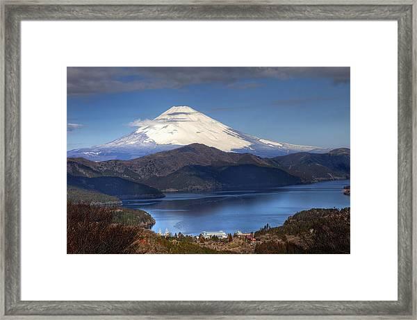 Mt.fuji And Lake Ashinoko-ii Framed Print