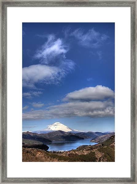 Mt.fuji And Lake Ashinoko Framed Print