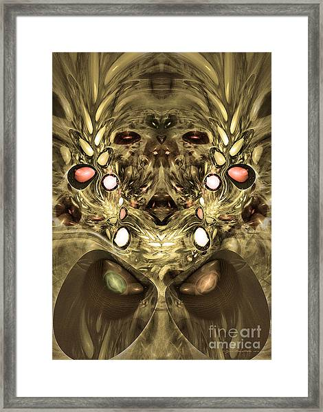 Mummy - Abstract Digital Art Framed Print