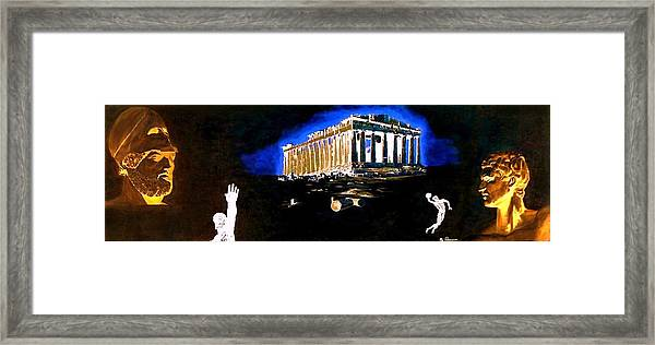 Mural - Night Framed Print