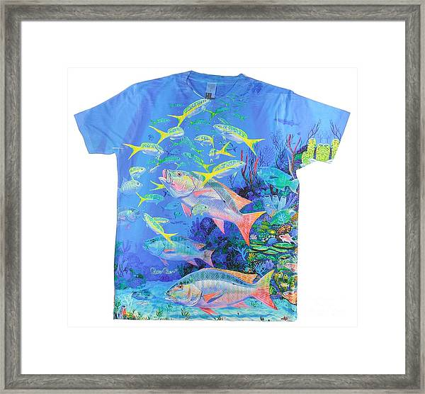 Mutton Snapper Mens Shirt Framed Print