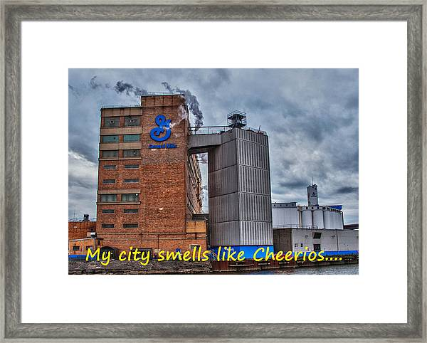 My City Smells Like Cheerios Framed Print