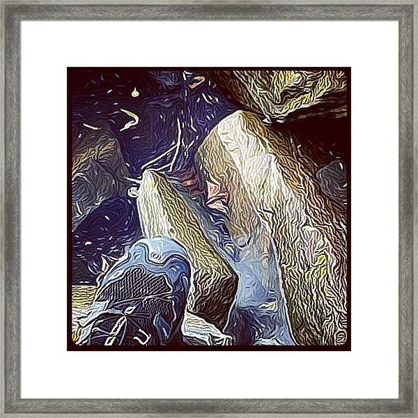 My Left Foot! #hudson #impressionist Framed Print