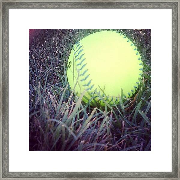 My Love And Passion,<3 #softball Framed Print
