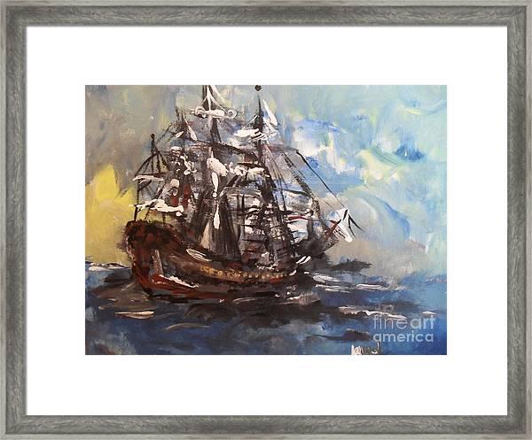 My Ship Framed Print