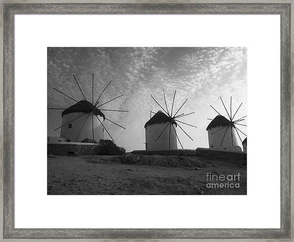 Mykonos Windmills Framed Print