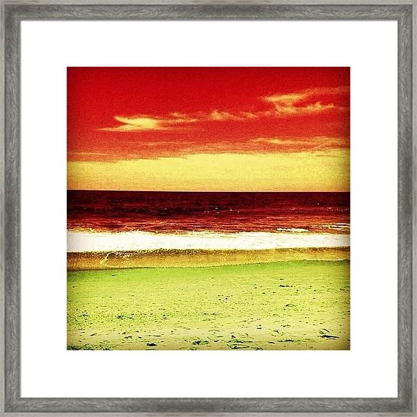 #myrtlebeach #ocean #colourful Framed Print
