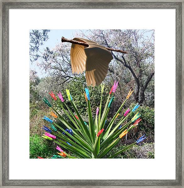 Framed Print featuring the digital art Mystic Spring by Eric Kempson