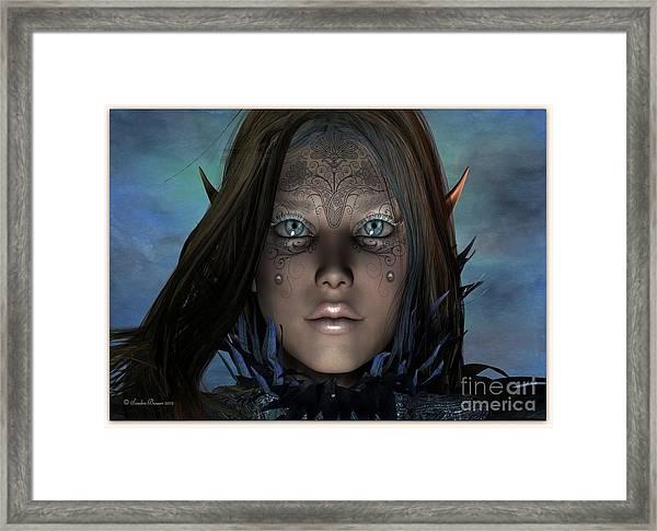 Framed Print featuring the digital art Mystikal by Sandra Bauser Digital Art