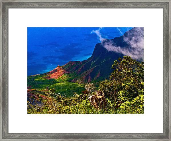 Na Pali Coast Hawaii 08 Framed Print