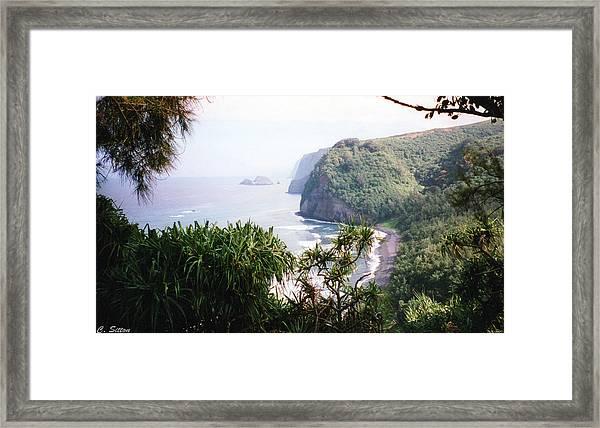 Na Pali Hike Framed Print