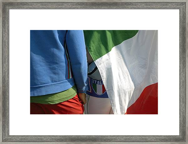 National Colors Of Italy - Green White And Red Framed Print by Matthias Hauser