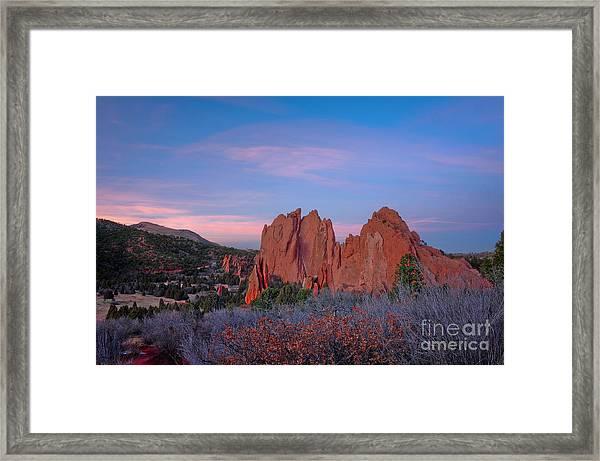 Near Sunset Framed Print