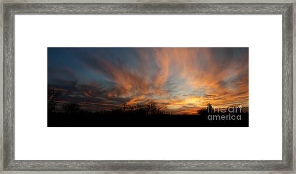 Nebraska Sunset Framed Print