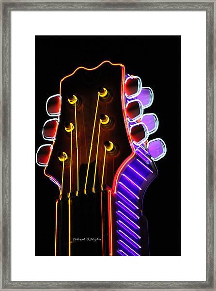Neon Bridge Framed Print