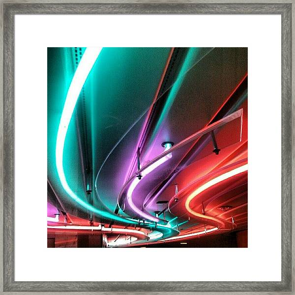 #neon #light #tubular #lighting Framed Print