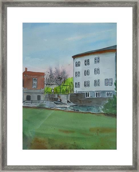 Neshkoro Mill And Dam Framed Print