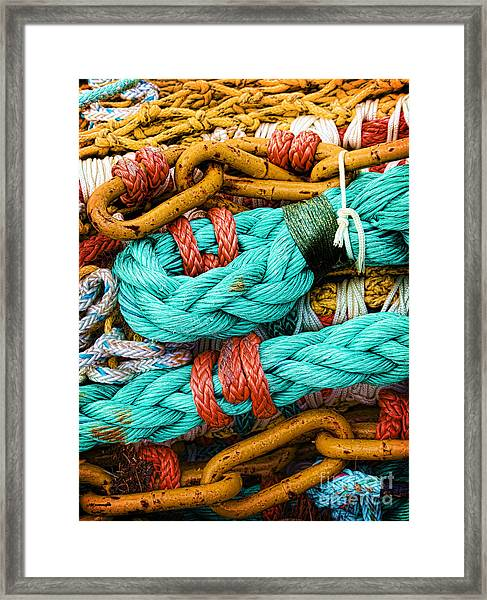 Nets And Knots Number Four Framed Print