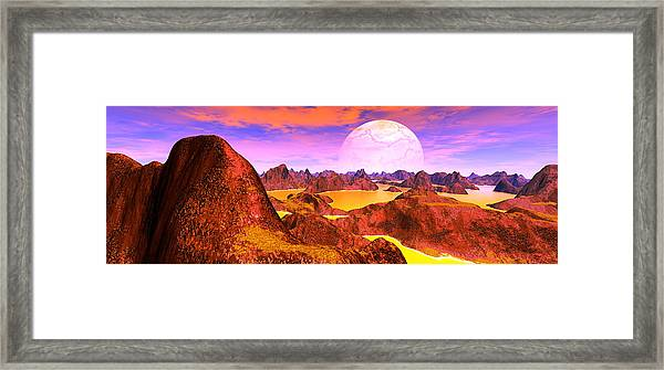 New Day, Panorama Digitally Created Framed Print