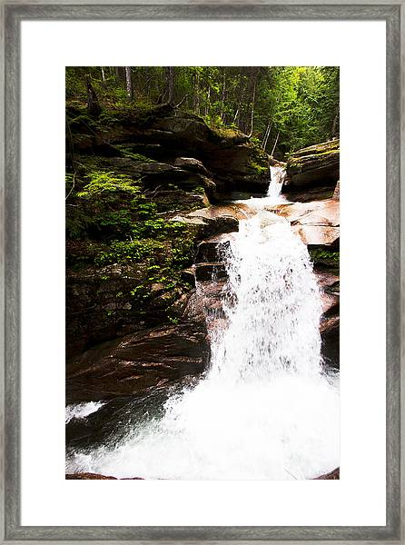 New Hampshire Waterfall Framed Print