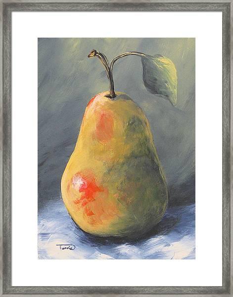 New Year Pear Framed Print
