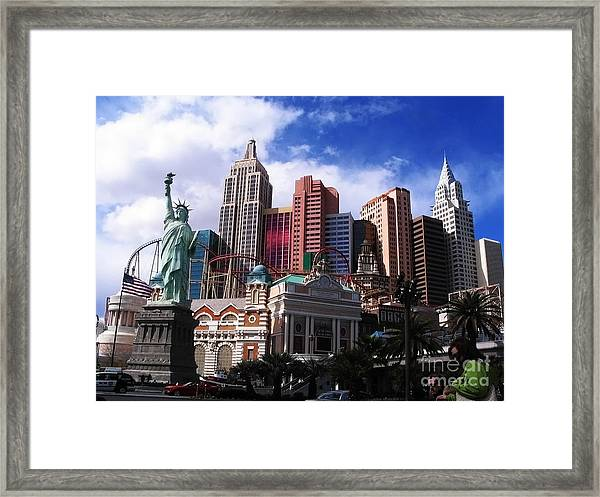 New York New York Hotel Framed Print by Rachel Duchesne